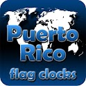 Puerto Rico flag clocks icon