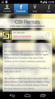 Screenshot of CSI Rentals NYC
