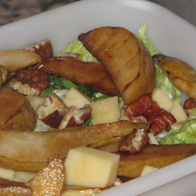 Pan Grilled Pear Salad With Pecans And Maple Dressing
