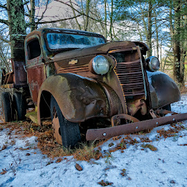 Chevy Pickup by Alan Roseman - Transportation Automobiles ( chevy truck, new england, truck, plymouth, old truck, work truck, decay, abandoned )