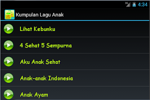 Screenshot of Kumpulan Lagu Anak-anak 2