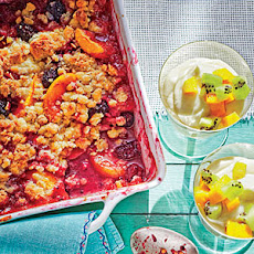 Peach-Berry Crumble