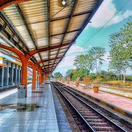 Stasiun Jember by Randi Pratama M - Instagram & Mobile Android ( jember, station, rail )