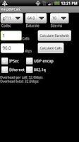 Screenshot of Voip Bandwidth Calculator