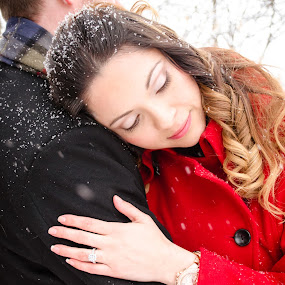 Beauty in the Snow by Jess Anderson - People Couples ( winter, february, 2014, sleigh, snow, engagement,  )