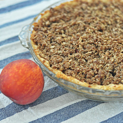 Ginger Peach Bourbon Pie