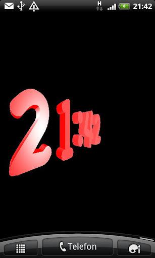 3D紅色數字時鐘