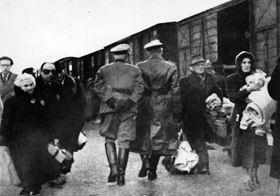 Train leaving for Auschwitz from Westerbork.