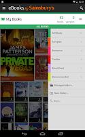 Screenshot of eBooks by Sainsbury's