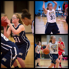All about Basketball by Dawn Moder - Sports & Fitness Basketball ( basketball, girls, ball, team, run, shooting )