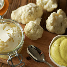 Curried Cauliflower Purée & Quick-Pickled Cauliflower