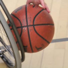 Staying Active by Karen Davis-Matthews - Sports & Fitness Basketball ( playing, basketball, wheelchair basketball, wheelchair, active,  )