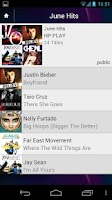 Screenshot of HP Connected Music Middle East
