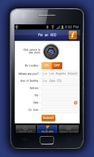 AED Registry - screenshot