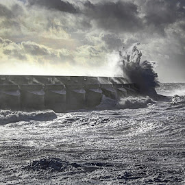 Stormy Marina by Paul Jenking - Landscapes Weather