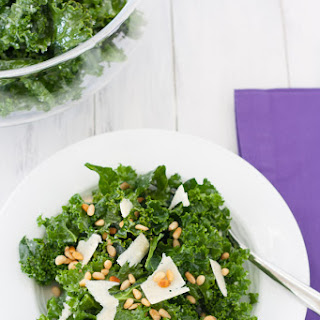 Lemon-Parmesan Kale Salad with Pine Nuts
