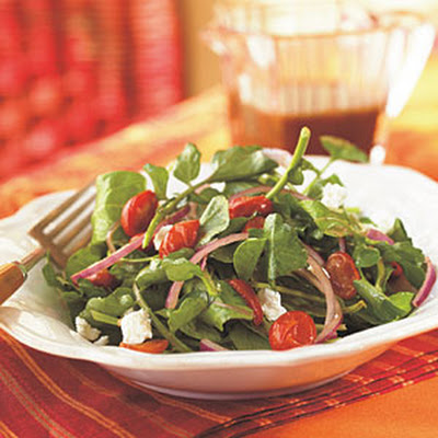 Arugula, Roasted Tomato, and Goat Cheese Salad