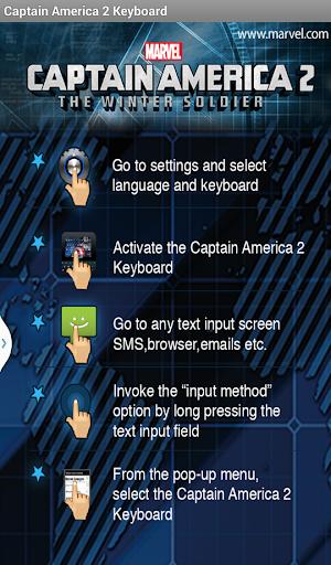 Captain America: TWS Keyboard - screenshot
