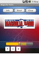 Screenshot of Magnolia Radio
