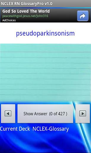 玩醫療App NCLEX RN Glossary Pro免費 APP試玩