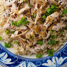 Sake Steamed Chicken with Ginger and Scallions