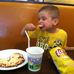 Our son is extremely allergic to dairy and gluten. This is his first experience to a public pizza jo