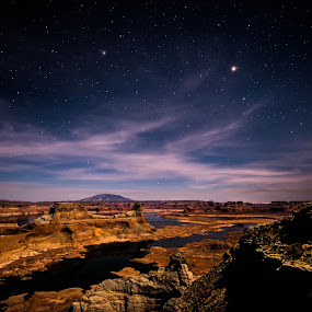 Stars over Alstrom by Jeremy Jordan - Landscapes Starscapes ( twitter, night photography, facebook, arizona, google plus, long exposure, travel, landscape, nikon, starscape )