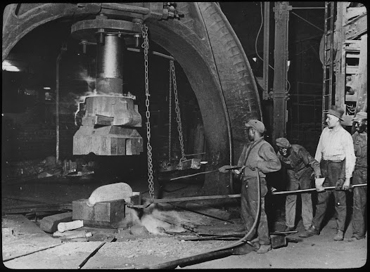 American industry flourished when the world went to war in 1914.  Economic growth encouraged a migration of African Americans, many under increasing political and economic oppression of Jim Crow laws, from the South to Northern cities in one of America's greatest internal demographic shifts and artistic booms.