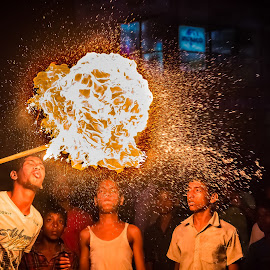 Play with fire by Arjit Chowdhury - People Street & Candids
