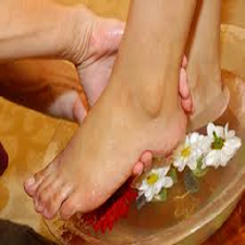 Massage Feet During A Pedicure