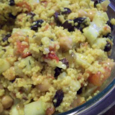 Couscous Chickpea Salad With Ginger Lime Dressing