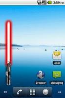 Screenshot of Battery Widget Lightsaber