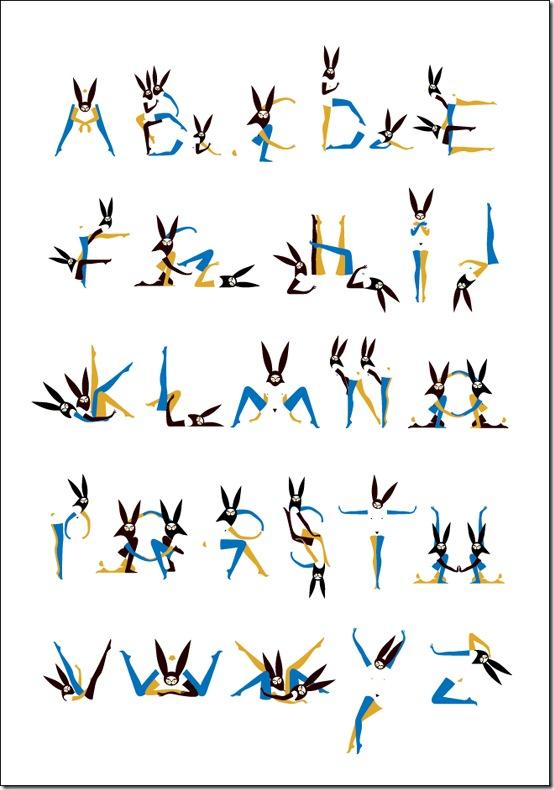 Alphabunnies print