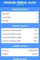 Screenshot of PhoneMetaInfo