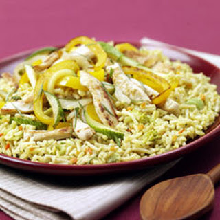 Chicken & Basil Rice Stir Fry