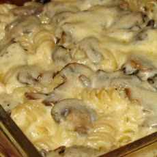 Baked Mushroom and Cheese Penne