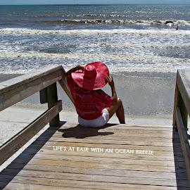 Life's a Beach! by Lynda Serafin - Typography Quotes & Sentences