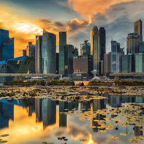 Glory Evening by Aditya Permana - Buildings & Architecture Office Buildings & Hotels ( golden hour, sunset, sunrise,  )