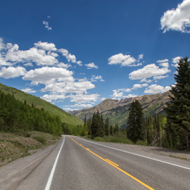 Mountain Road by Michael Buffington - Transportation Roads ( hills, mountains, highway, colorado, trees )