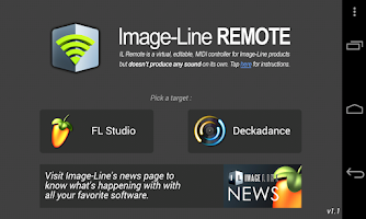 Screenshot of Image-Line Remote