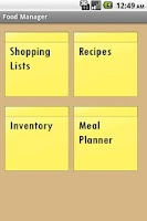 Screenshot of Food Manager