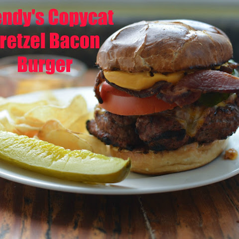 Wendy's Copycat Pretzel Bacon Burger