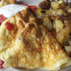 Ww Strawberry Omelet - Omelette Aux Fraises