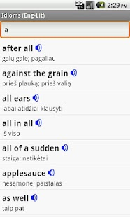 English-Lithuanian Idioms - screenshot