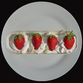 Dessert by Margareth Perfoncio - Food & Drink Candy & Dessert ( strawberry, whipped cream, dessert )