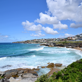 Here Is Tamarama by Kamila Romanowska - Landscapes Beaches ( nature, australia, ocean, beach, landscape, sydney )
