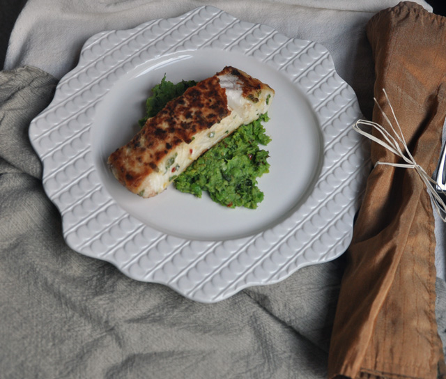 Halibut on Minted Fava Bean and Pea Puree Recipe | Yummly