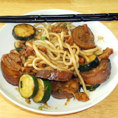 Chinese-Style Mock Duck With Noodles
