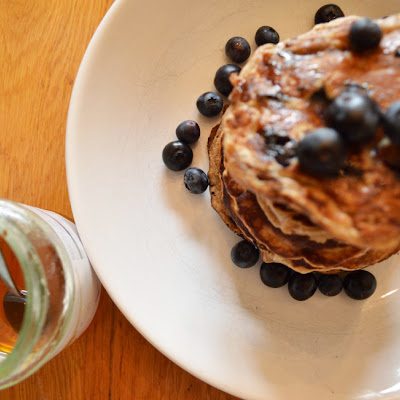 Wholewheat Blueberry Pancakes
