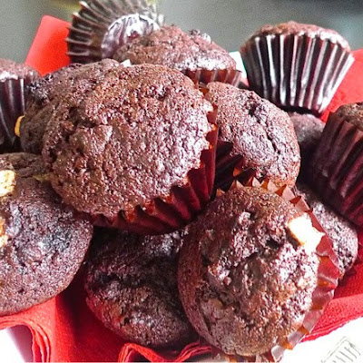 Moist Chocolate Chips Chocolate Muffins